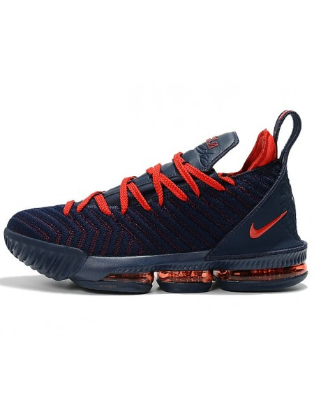 Nike LeBron 16 (Navy Blue/University Red)