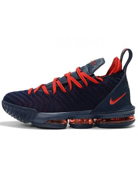 Nike LeBron 16 (Navy Blue/University Red)