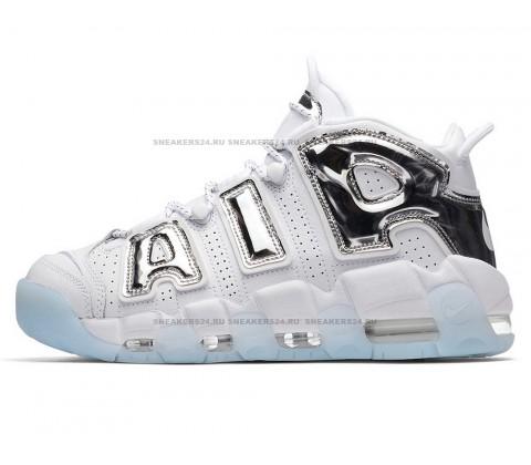 Nike Air More Uptempo White Chrome Blue Tint
