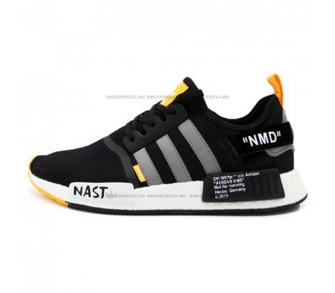 Adidas Off-White x NMD R1 PK Primeknit (Black/White)