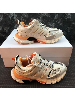Balenciaga Track Trainers (White/Orange)
