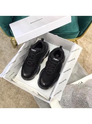 Balenciaga Triple S Black 2019 Clear Sole (Полупрозрачная подошва)