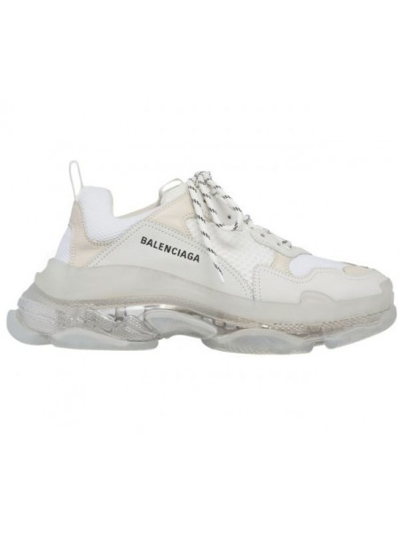 Balenciaga Triple S White 2019 Clear Sole (Полупрозрачная подошва)