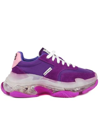 Кроссовки Balenciaga Triple S Trainers BB Bubble Violet