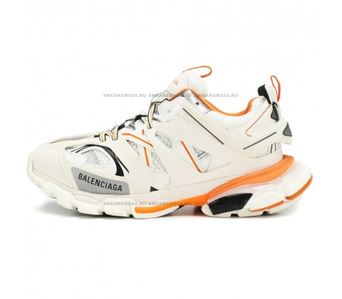 Balenciaga Track Trainers (White/Orange) (LUX)