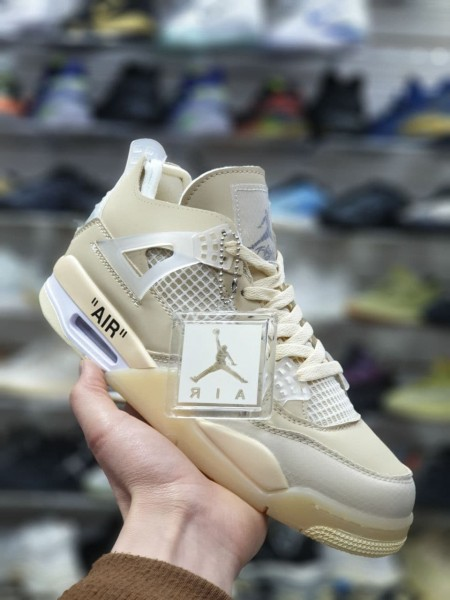 Кроссовки Nike Air Jordan 4 Retro beige