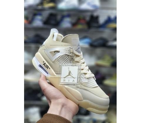 Nike Air Jordan 4 Retro beige купить со скидкой!
