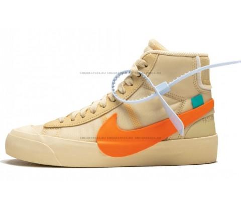 "Off White x Nike Blazer Mid ""Spooky"" / Orange"