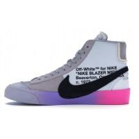 Nike Blazer Mid Off-White Wolf Grey Serena «Queen»