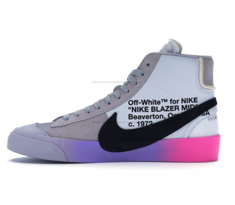 Nike Blazer Mid Off-White Wolf Grey Serena «Queen»