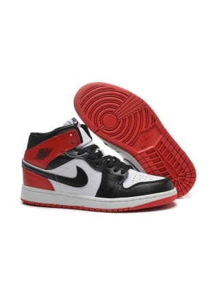 "Air Jordan 1 Retro ""Black Toe"" (Black/White/Red)"