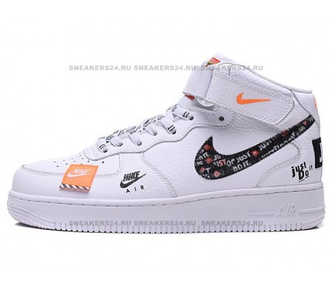 "Nike Air Force 1 High ""Just Do It"" (White/Black)"