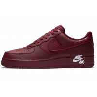 Nike Air Force 1 Low '07 LTHR 'Sail' 'Team Burgundy'