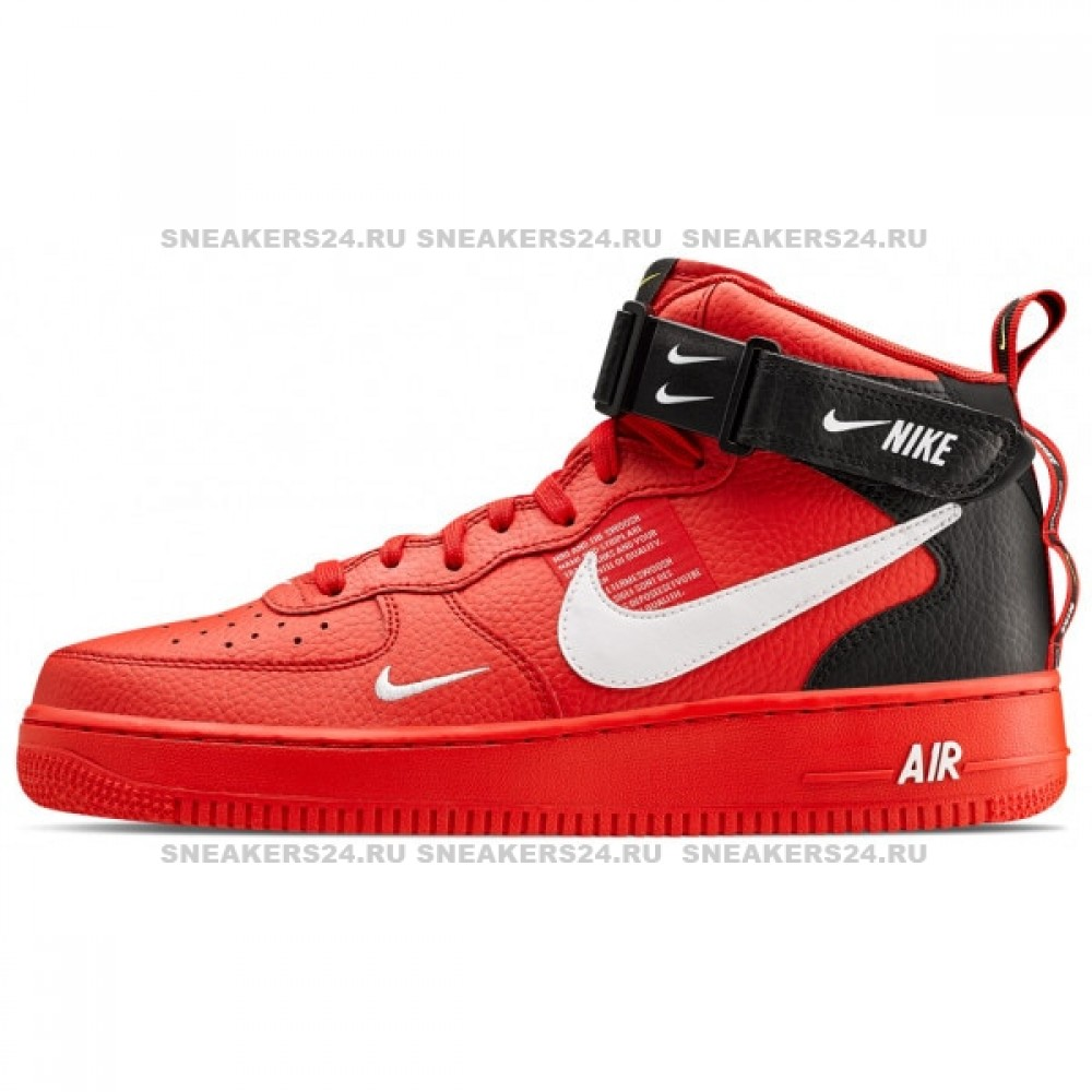 a4382b2a Nike Air Force 1 LV8 Utility Mid (Red/Black)