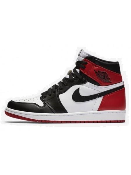 "Air Jordan 1 Retro ""Black Toe"" (Black/White/Red)"