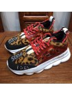 Versace RED LEOPARD Chain Reaction Trainers