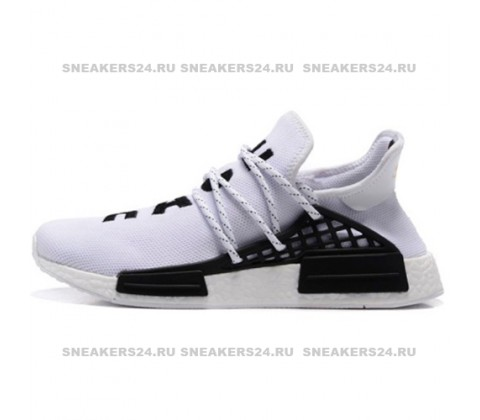 Кроссовки Pharrell Williams x Adidas NMD Human Race White