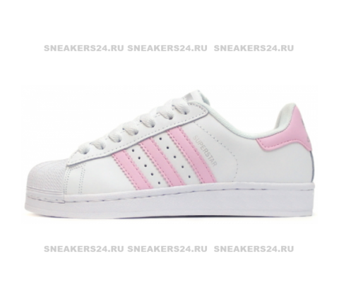 Кроссовки  Adidas SuperStar White/Pink