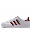 Кроссовки Adidas SuperStar White/Hologram Red
