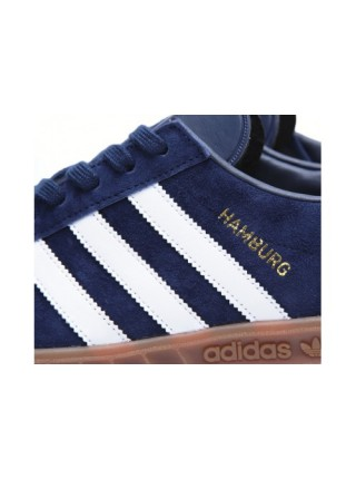 Кроссовки Adidas Hamburg OG New Navy & Running White