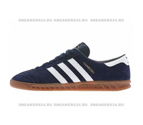 Кроссовки Adidas Hamburg OG New Navy & Running White