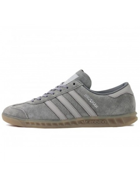 Кроссовки Adidas Hamburg Suede Double Grey