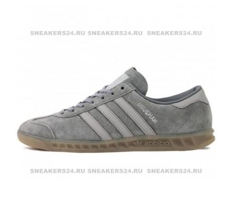 Кроссовки Adidas Hamburg Suede Double Grey