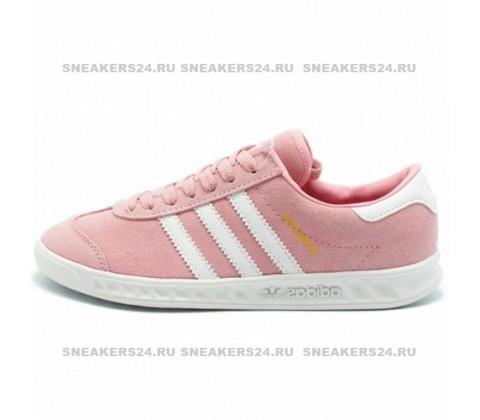 Кроссовки Adidas Hamburg Suede Pink/White