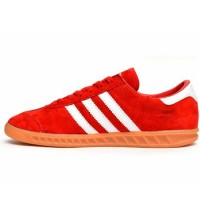 Кроссовки Adidas Hamburg Suede Red/White