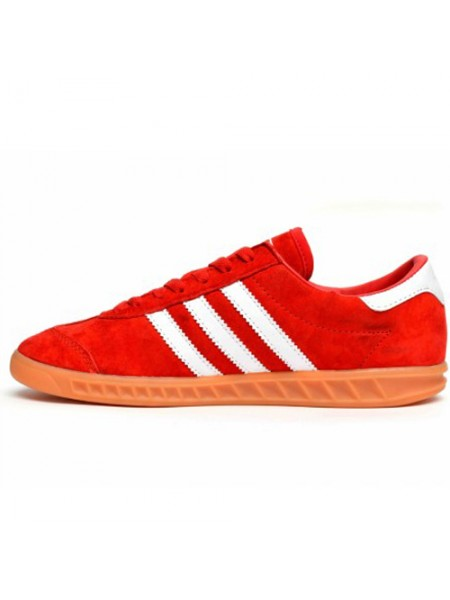 Кроссовки Adidas Hamburg Suede Red/White