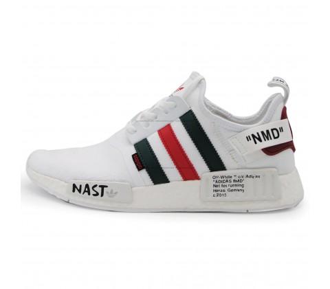 Кроссовки Adidas NMD_R1 Primeknit Nast White Off-White