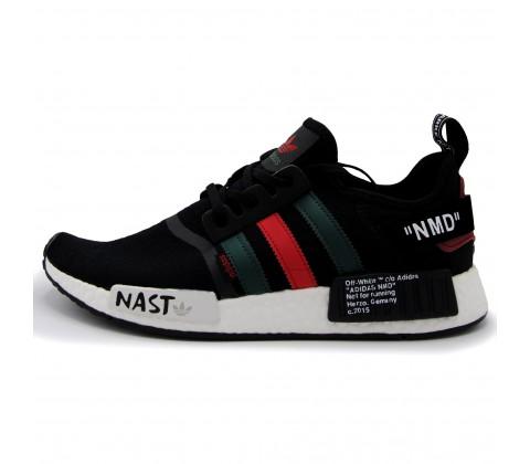 Кроссовки Adidas NMD_R1 Primeknit Nast Black Off-White