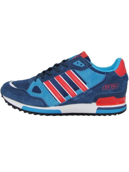 Кроссовки Adidas ZX 750 Blue/Red