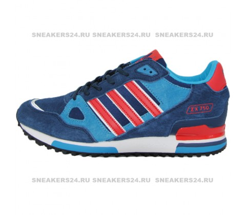 Кроссовки Adidas ZX 750 Blue/Red