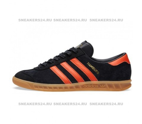Кроссовки Adidas Hamburg Brussels Core Black/Orange