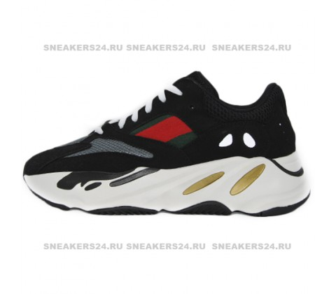 Кроссовки Adidas Yeezy Wave Runner 700 Black/Red/White