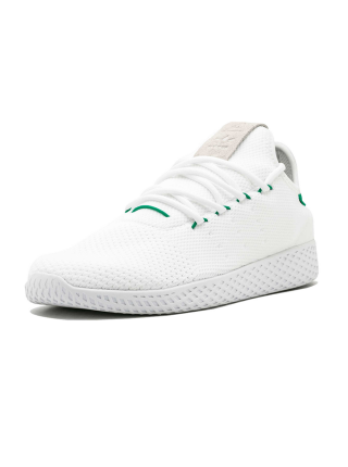 Кроссовки Adidas Pharrell Williams Tennis Hu White/Green Glow