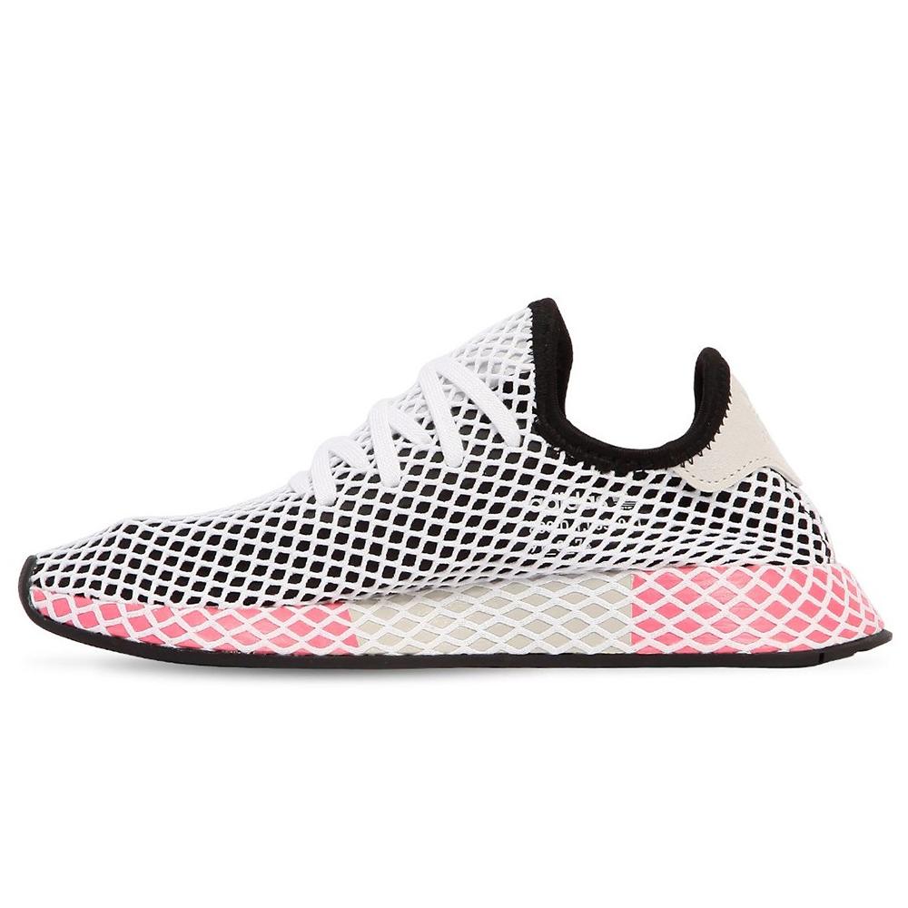 4a87874f Кроссовки Adidas Deerupt Runner Black/White/Pink