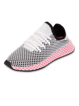 Кроссовки Adidas Deerupt Runner Black/White/Pink