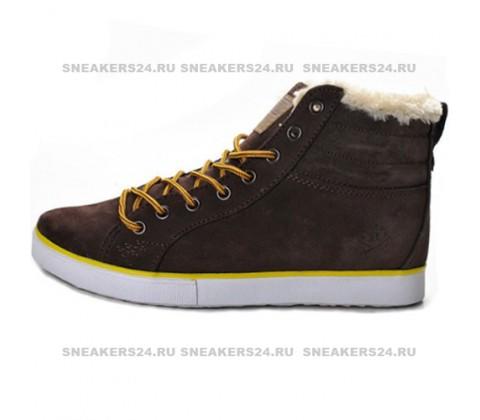 Кроссовки Adidas Ransom Brown With Fur