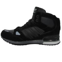 Кроссовки Adidas ZX 750 All Black With Fur