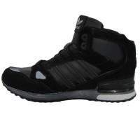 Кроссовки Adidas ZX 750 All Black With Fur