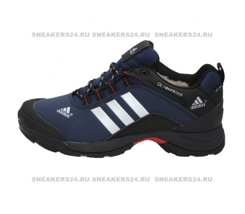 Кроссовки Adidas Terrex Climaproof Low Blue/Black With Fur