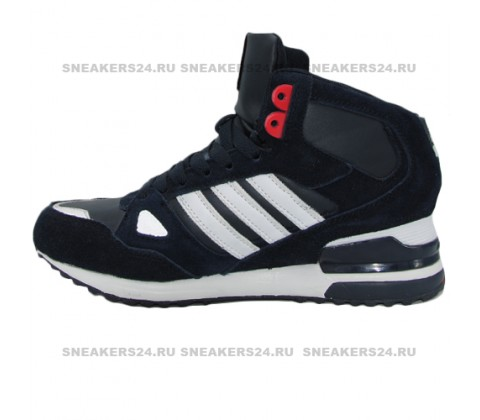 Кроссовки Adidas ZX 750 Black/White/Red With Fur