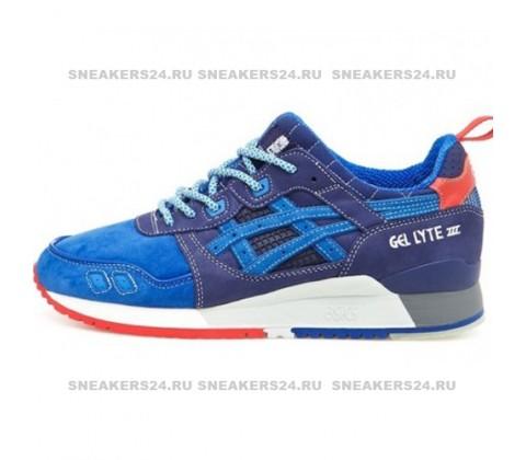 Кроссовки Asics Gel Lyte III Blue/White/Red
