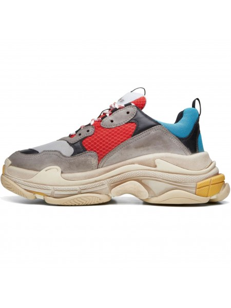 Кроссовки Balenciaga Triple S Grey/Red