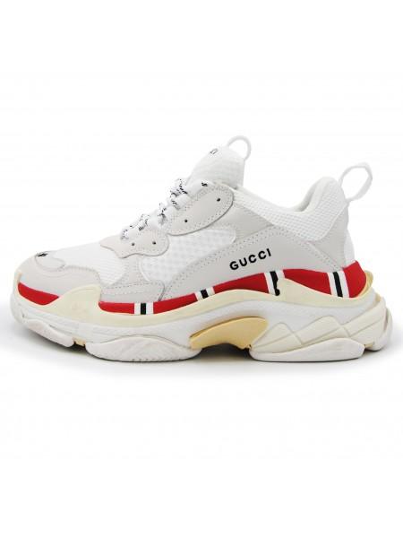 Кроссовки Balenciaga Triple S x Gucci White