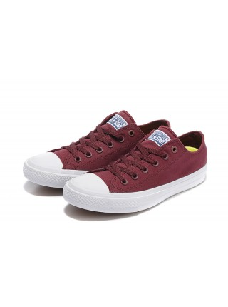 Converse All Star II Low Burgundy/White кеды
