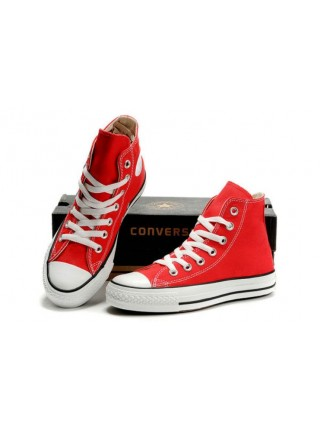 Красные Converse Chuck Taylor All Star High Ox Lean Red