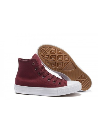 Бордовые Сonverse Сhuck Taylor All Star II High Burgundy